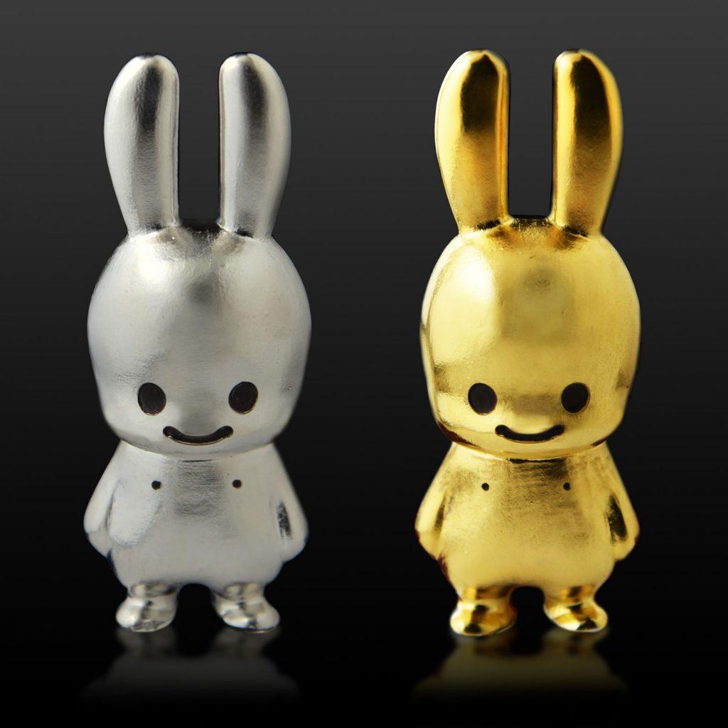 純金と純銀のウサギ